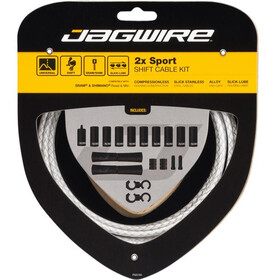 Jagwire 2X Sport Shift Set Cable Cambio para Shimano/SRAM, blanco